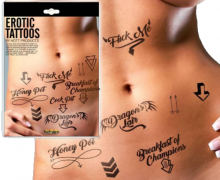 Adult EroticTattoos Assorted Pack Romantic Date Night Romance Sexy Couples Gift