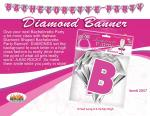 Hens Party Pink Diamond Party Bachelorette Party Banner Fun