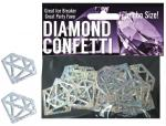Diamond Mylar Confetti Silver Jumbo Size Engagement Bachelorette Party Hot Sexy