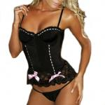 Lingerie & Clothing, Stockings, Pantyhose & Garters Strapless Microfibre Corset