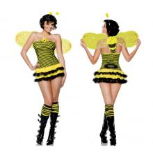 Bumblebee Bee Stinger Dress Adult Women Cute Complete Costume Medium Woman