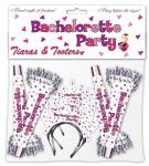 Bachelorette Party Tiaras and Tooters 8 Gift Pack Fun Theme Hens Night Supplies