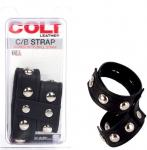 Stay Hard Cock Ring and Ball Strap - Black Cock & Ball Ring