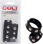 COLT Leather Cock and Ball Domed Strap Cock Ring Sexual Wellness Adult Sex Toys