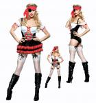 Pirate Uniform Adult Female Ladies Dress Costume Large Outfit Maiden Voyage