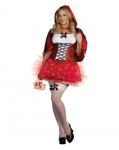 Little Red Hood De-light Costume Set Sexy Red Plaited Dress Lights Up 1XL/2XL