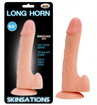 Long Horn Dildo 8.5inch Dong Flexible Natural Flesh Suction Base