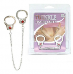 Twinkle Finger Cuffs Metal Thumb Cuffs Chrome Silver Mini Police Cuffs Cute Gift